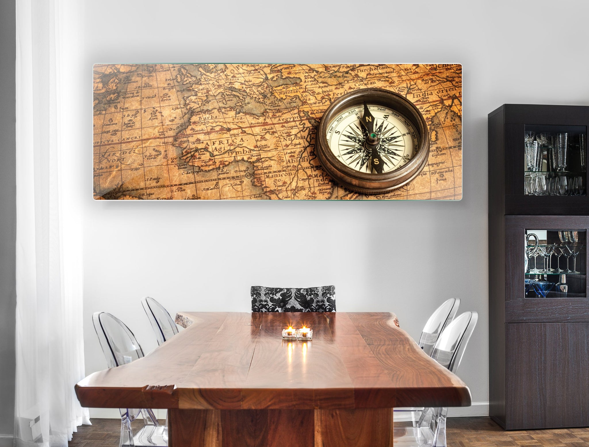 Art wall pictures Old map - AP015 - Art Life Decor