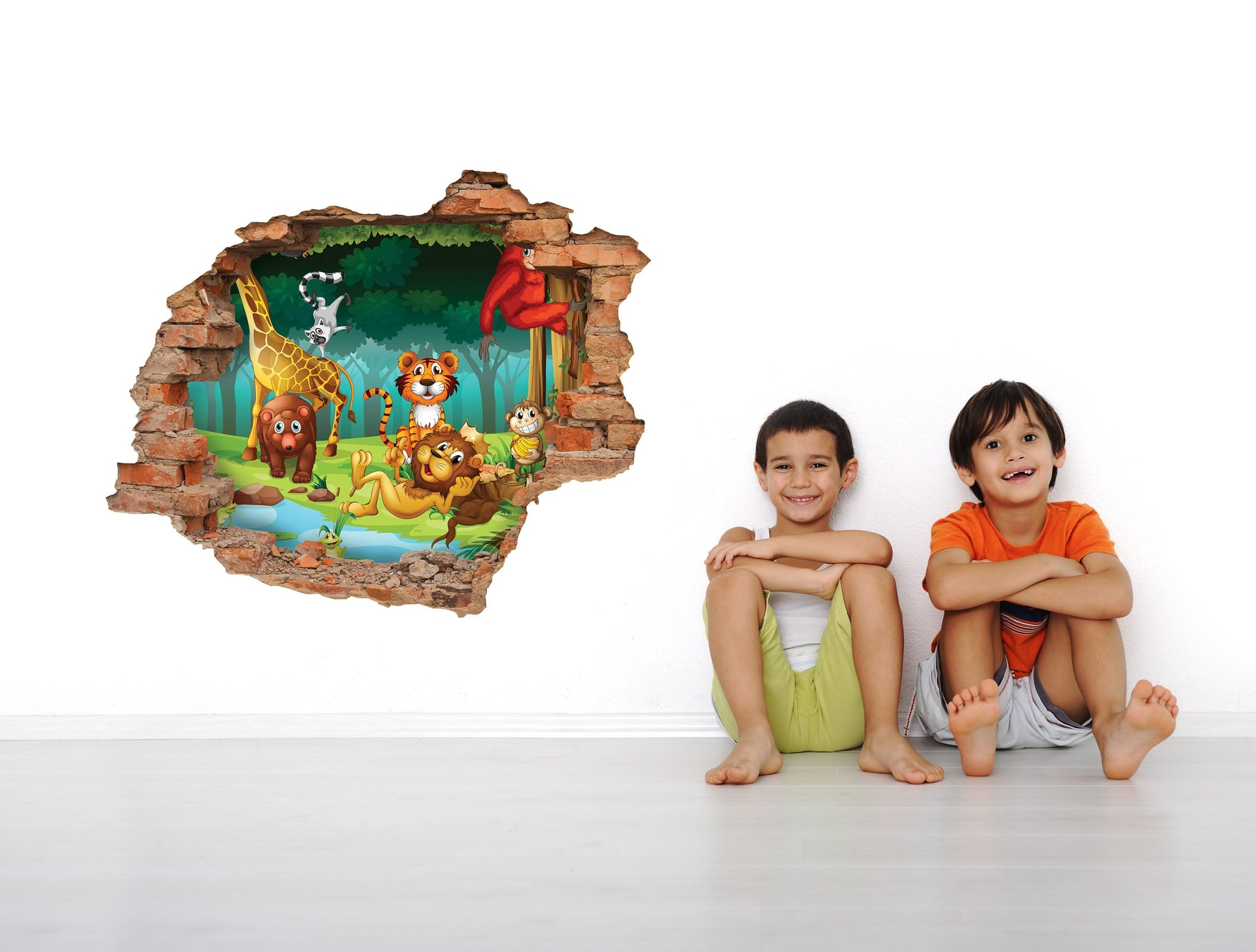 3D Art Wall stickers Cute forest- 3D019 - Art Life Decor
