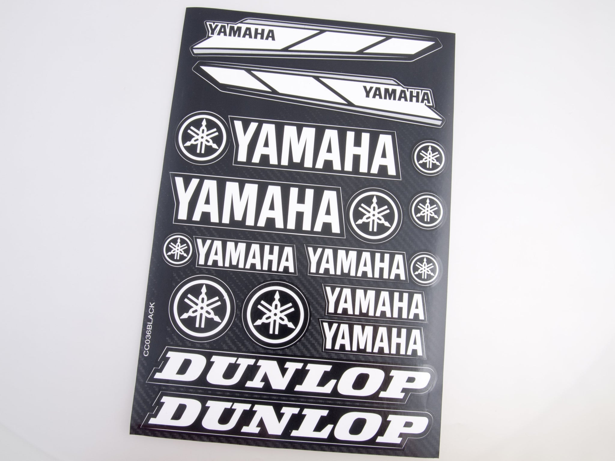 Yamaha white  sticker for motorcycle