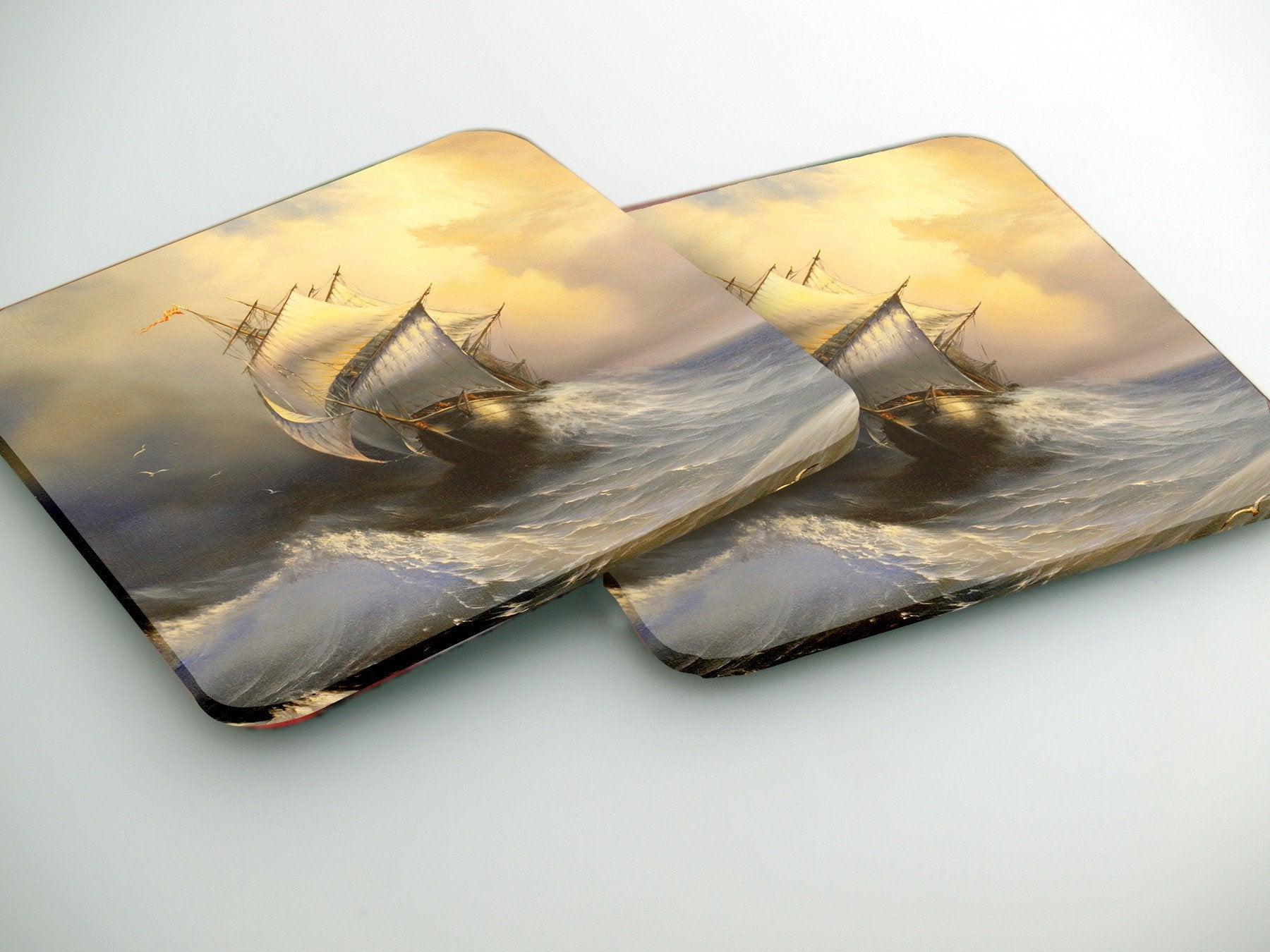 Coasters-  Stormy sea  CO028 - Art Life Decor