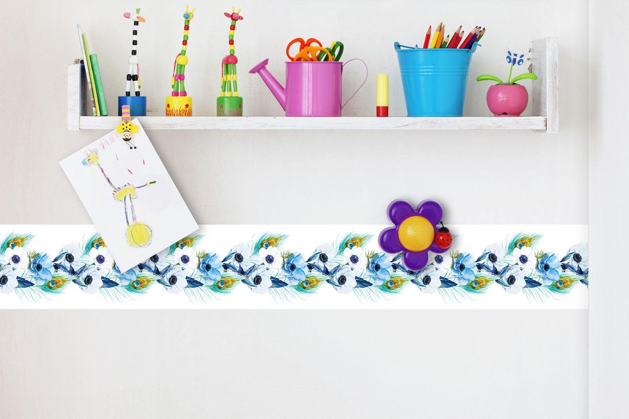 Self Adhesive Border  flovers BR036