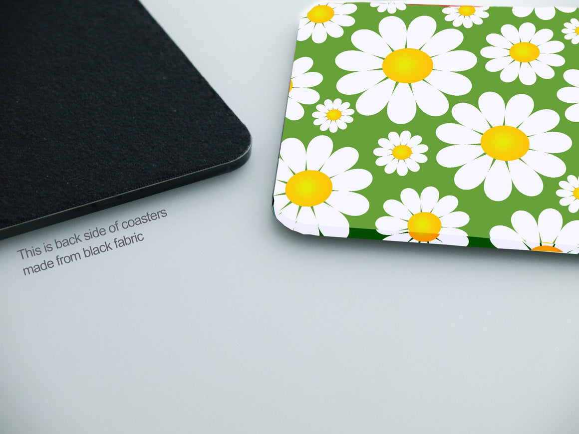 Coasters- Daisy Flower CO008 - Art Life Decor
