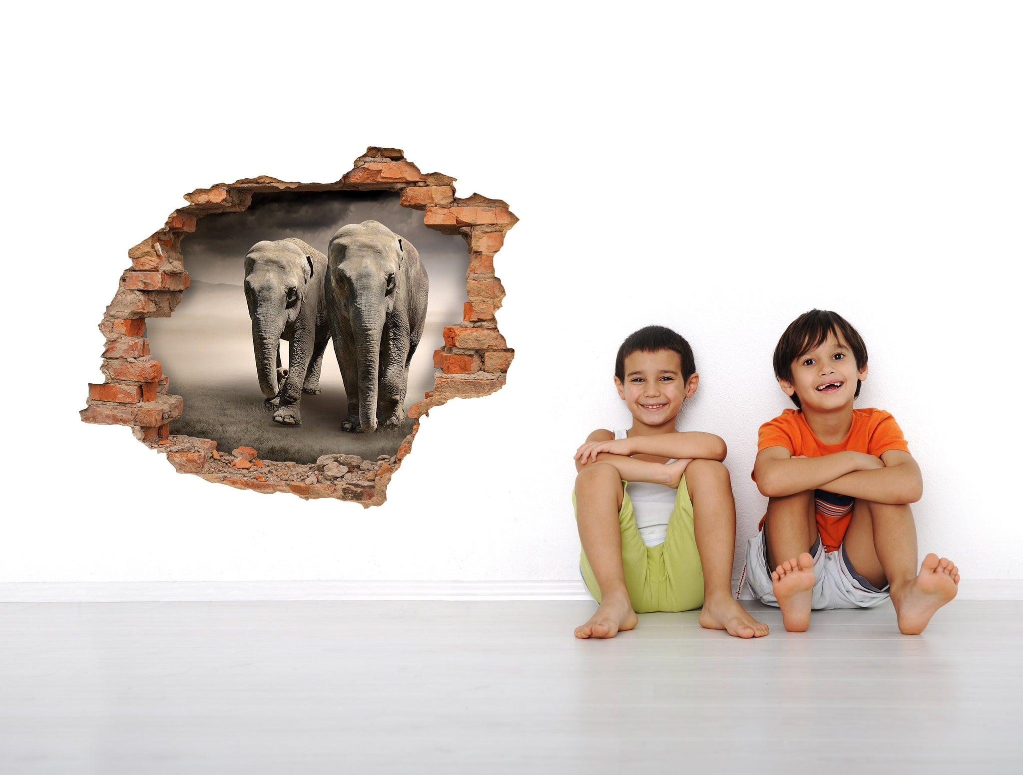 3D Art Wall stickers Elephants - 3D040 - Art Life Decor