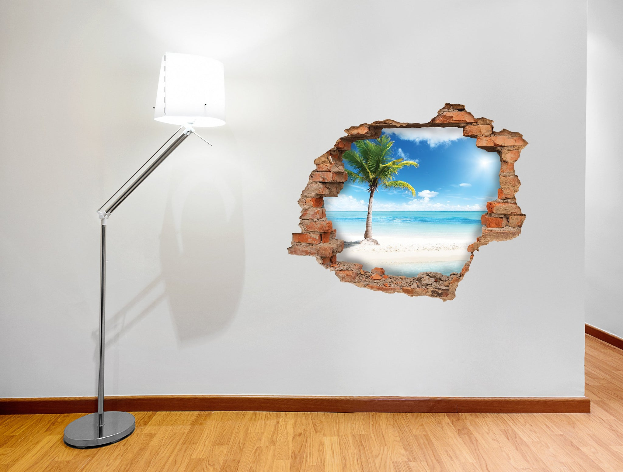 3D Art Wall stickers Sand Palm - 3D044 - Art Life Decor