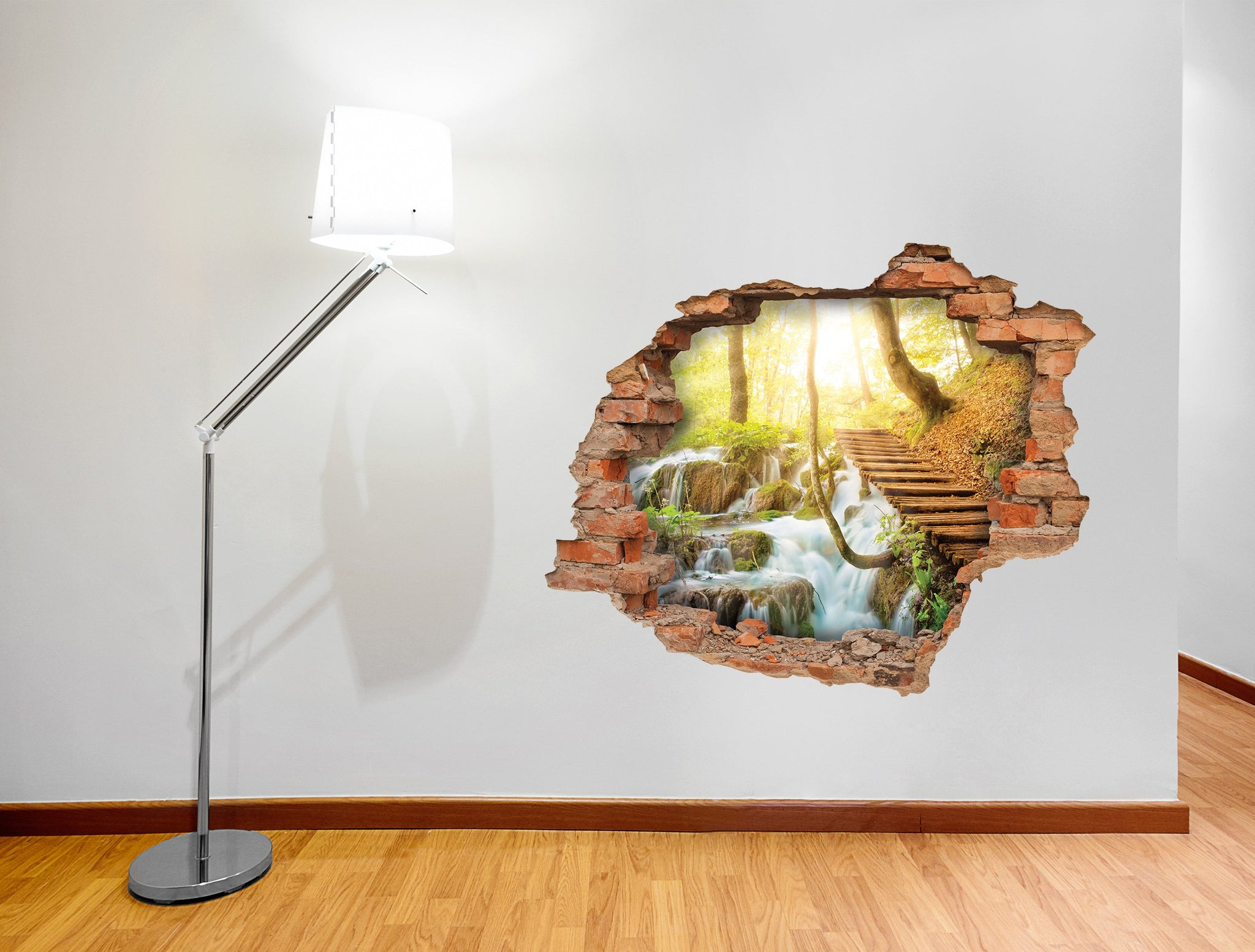 3D Art Wall stickers Nature Bridge - 3D003 - Art Life Decor