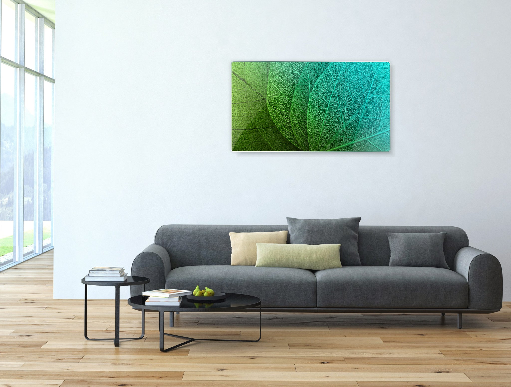 Art wall pictures Green Leaf - AP001 - Art Life Decor