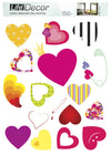 Heart - Windows decoration WL028 - Art Life Decor
