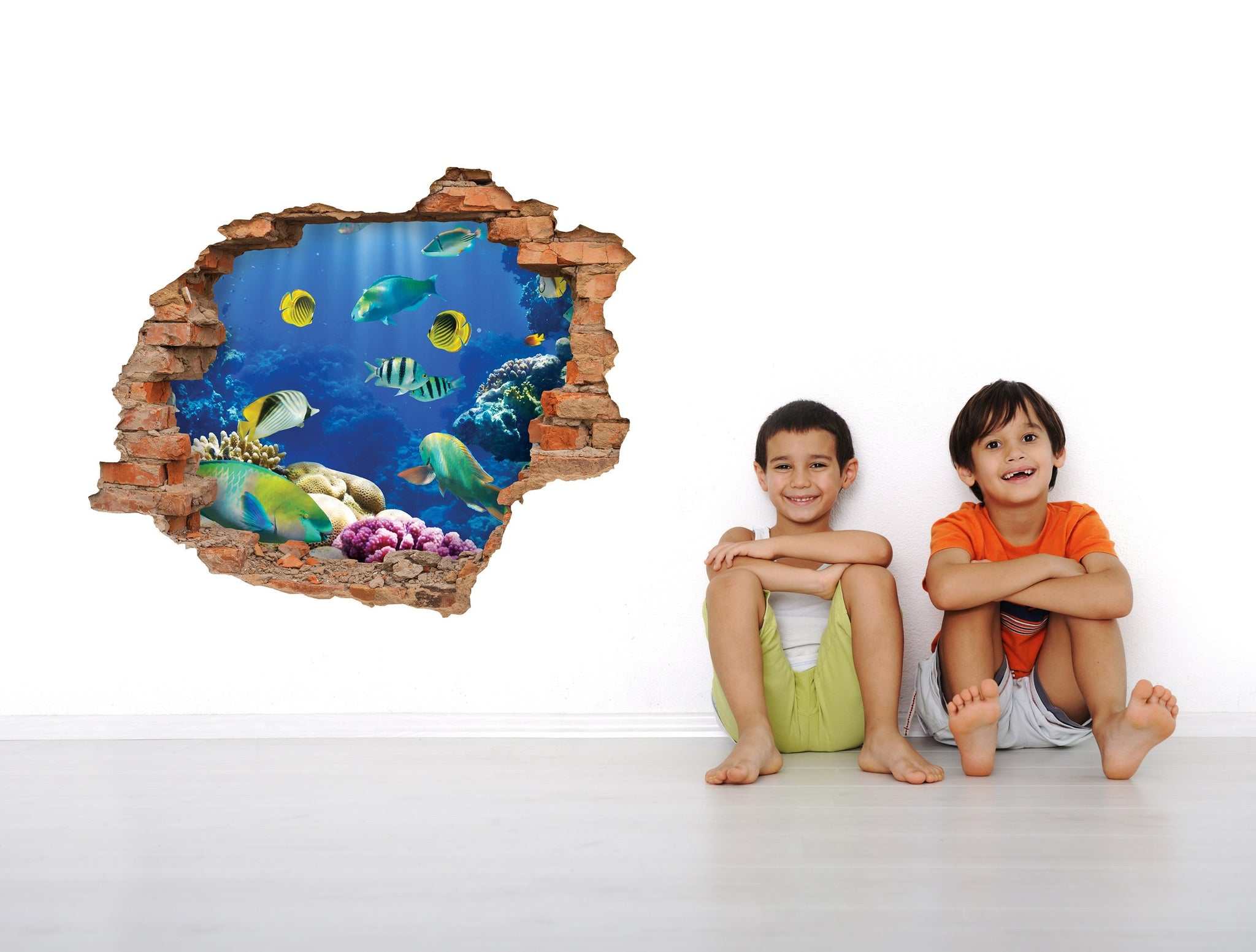 3D Art Wall stickers Fish tank - 3D022 - Art Life Decor