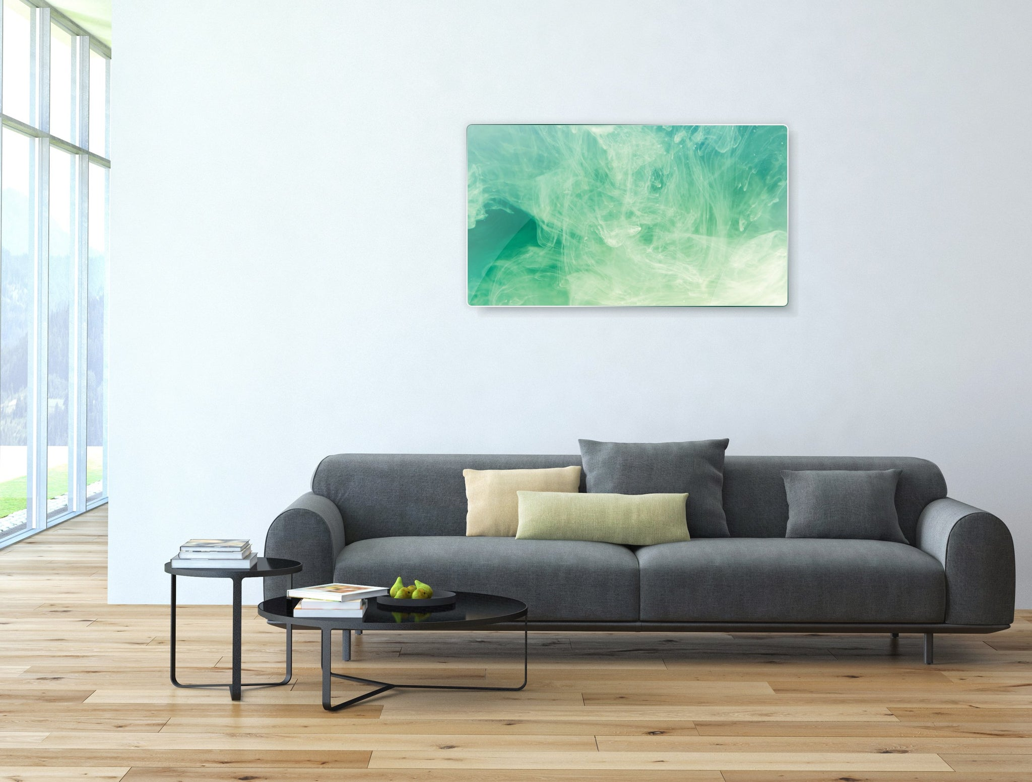 Art wall pictures Green smoke - AP009 - Art Life Decor