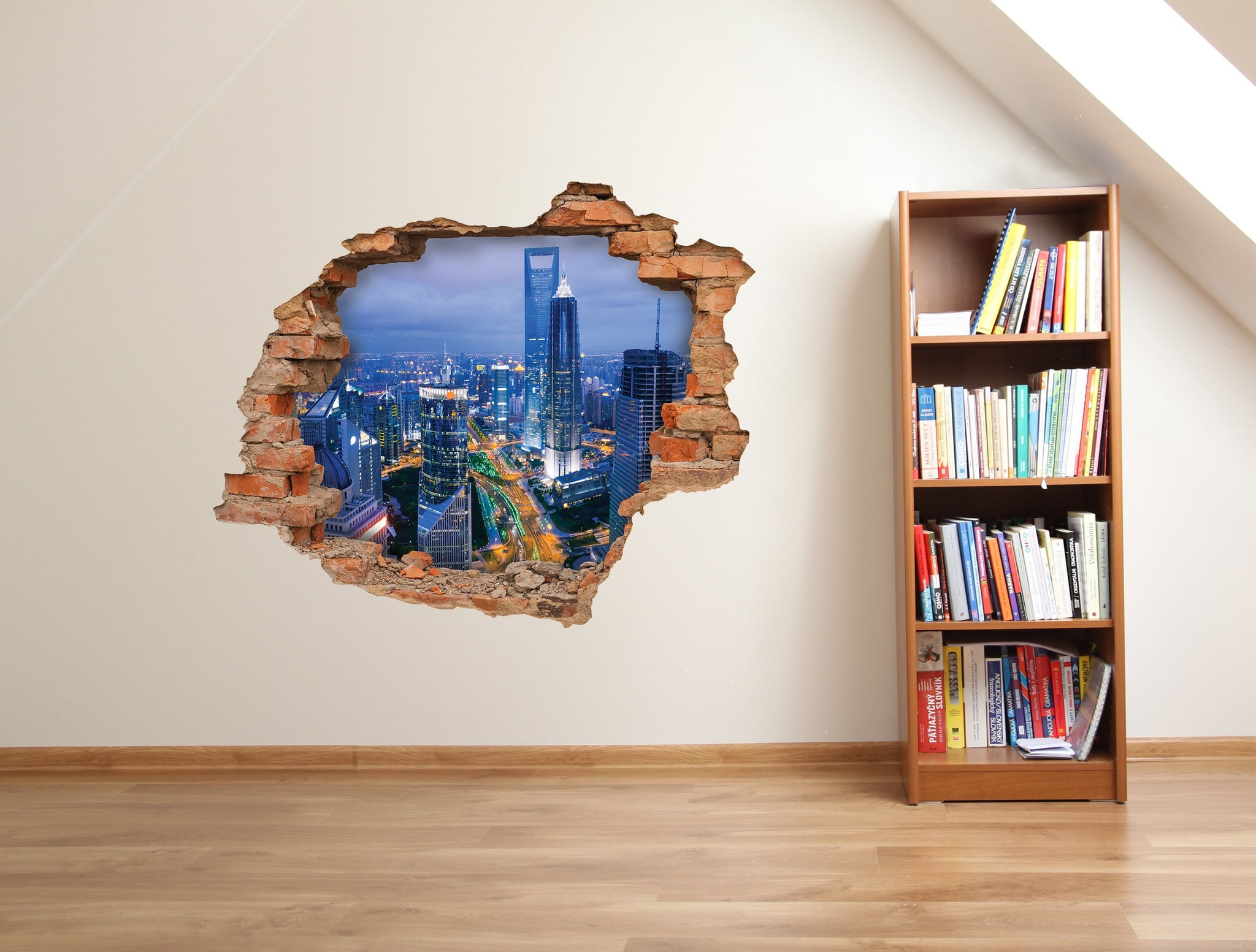 3D Art Wall stickers City lights - 3D011 - Art Life Decor