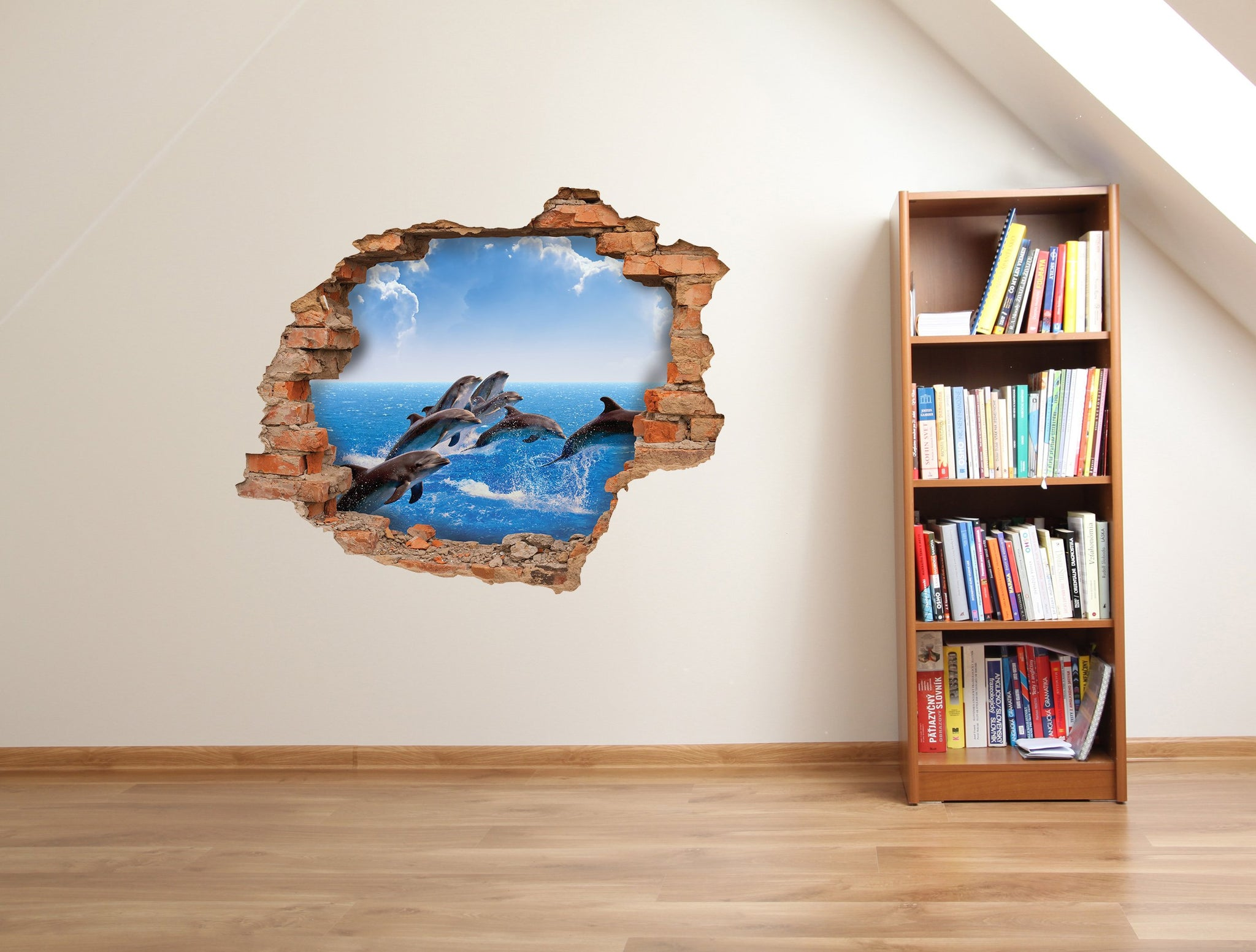 3D Art Wall stickers Dolphins - 3D002 - Art Life Decor