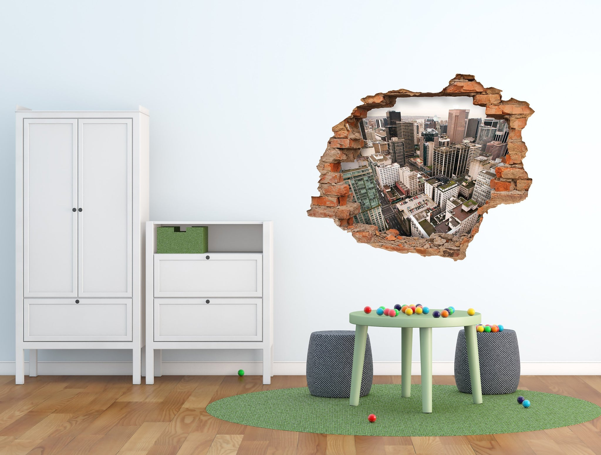 3D Art Wall stickers New York- 3D018 - Art Life Decor
