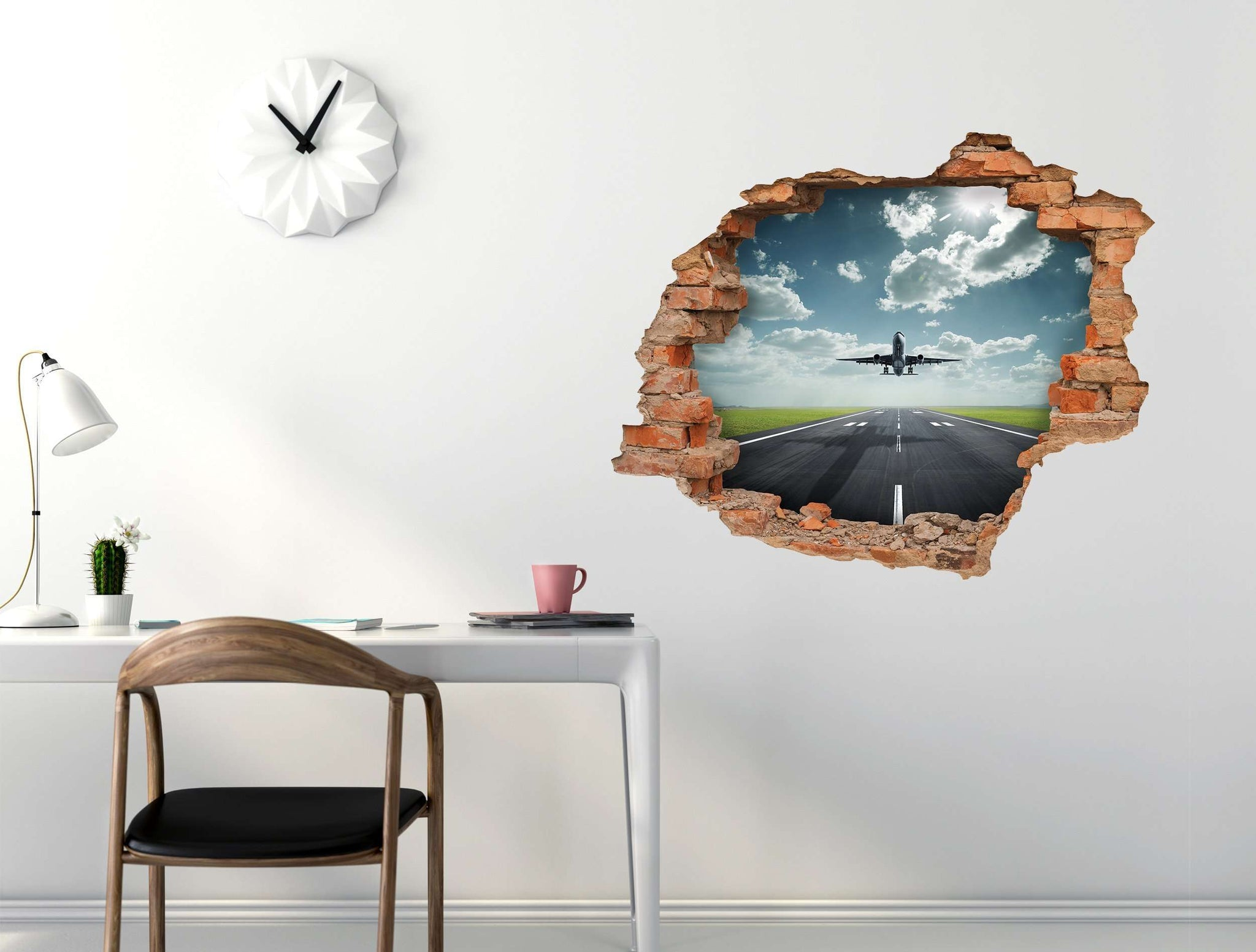 3D Art Wall stickers Airplane - 3D039