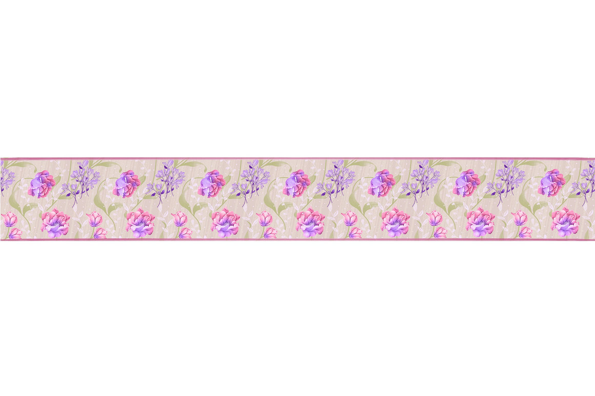 Self Adhesive Border   Color Flower BR004