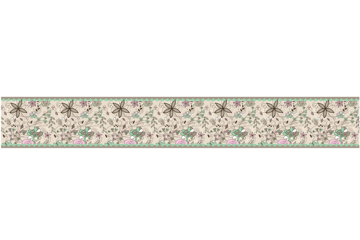 Self Adhesive Border  flowers BR024