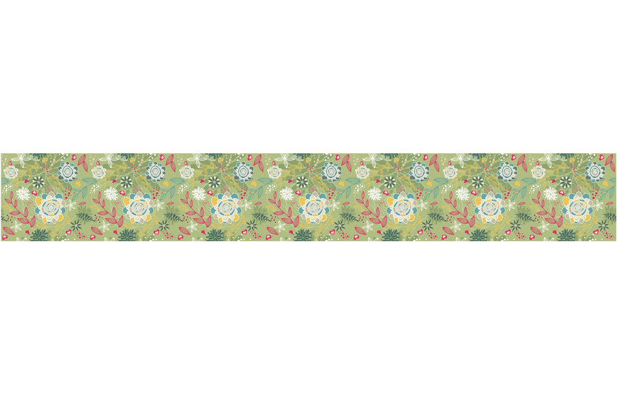 Self Adhesive Border  green field BR034