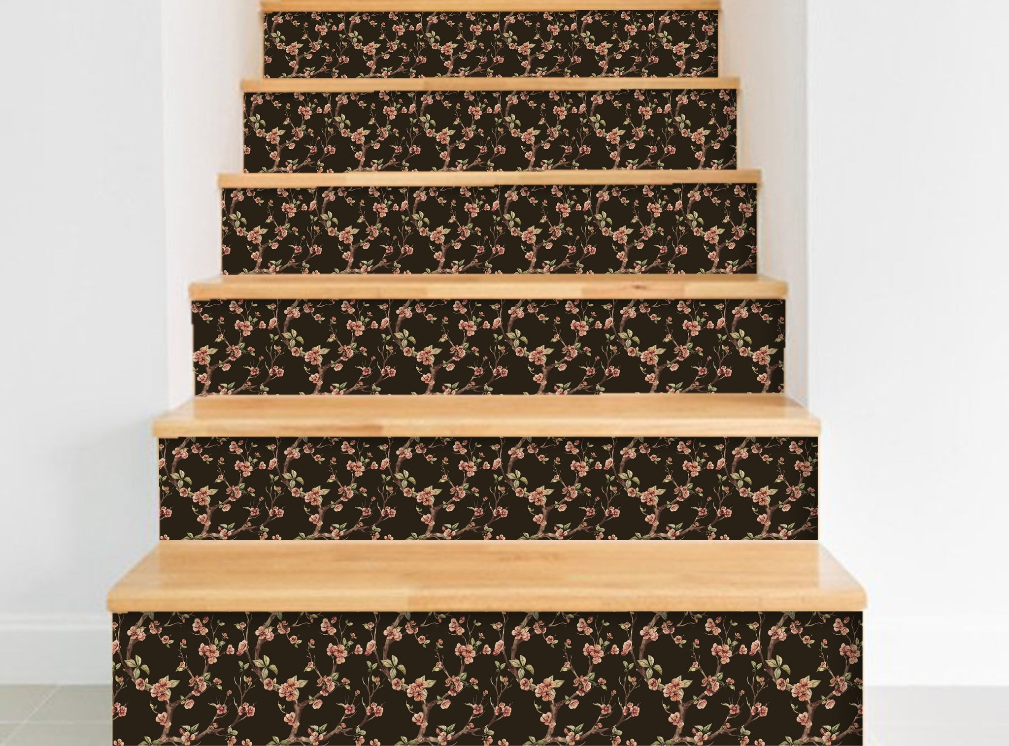 Flower - Stickers for stairs NS015 - Art Life Decor