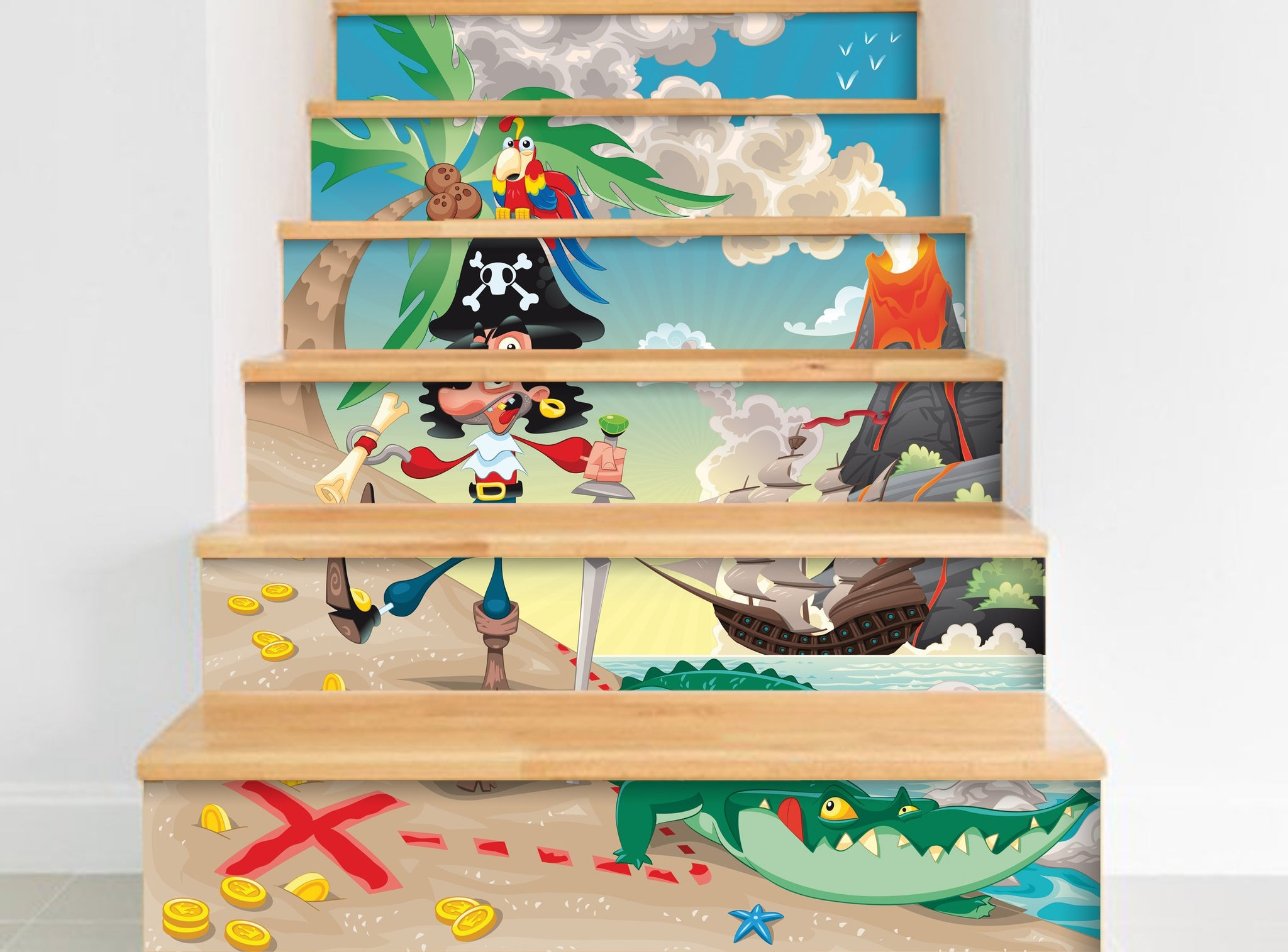 Pirate - Stickers for stairs NS011