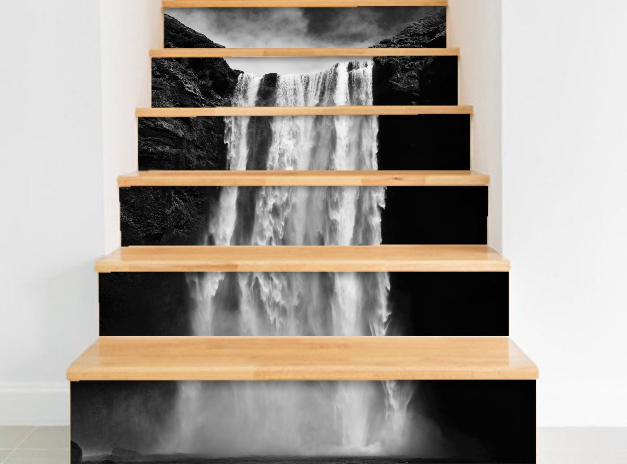 Waterfalls - Stickers for stairs NS014