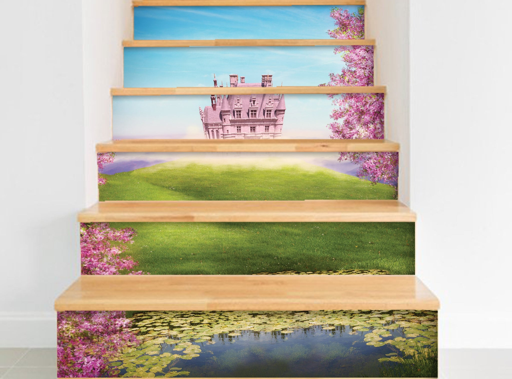 Princess Castle - Stickers for stairs NS023
