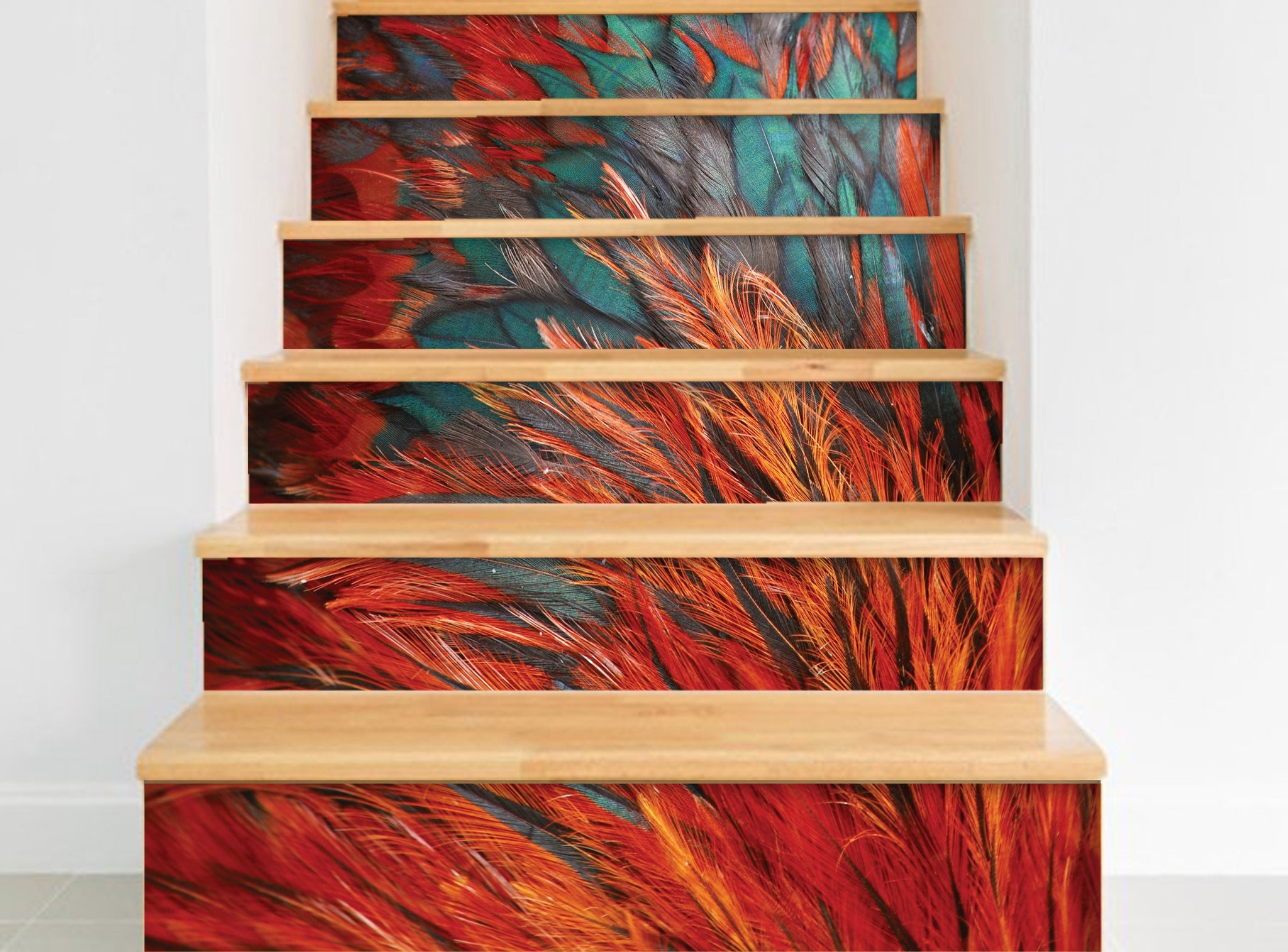Feather - Stickers for stairs NS004 - Art Life Decor
