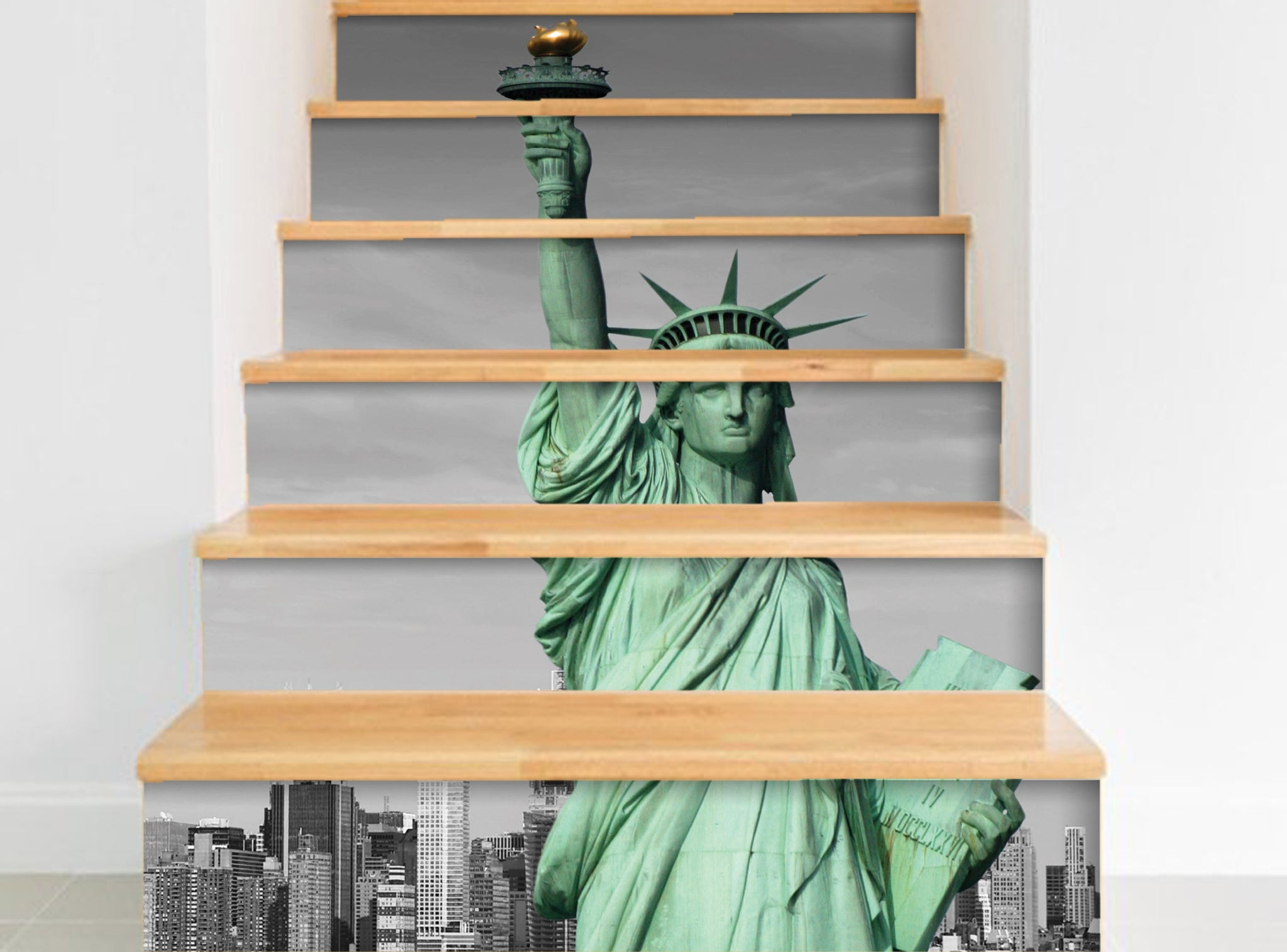 Statue of Liberty - Stickers for stairs NS016