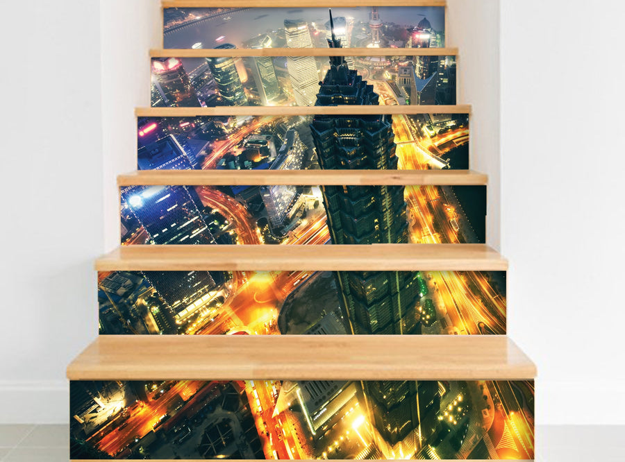 Fast City - Stickers for stairs NS020 - Art Life Decor