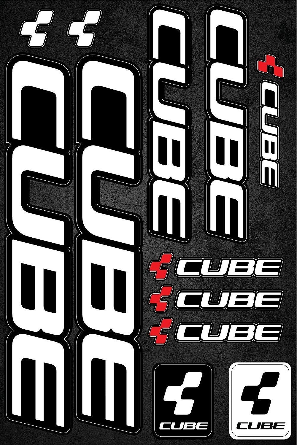 Cube self-adhesive sticker for a bike - Art Life Decor