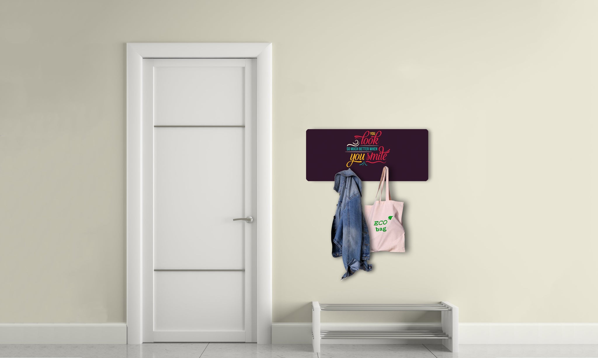Art wall hangers smile - AV051 - Art Life Decor