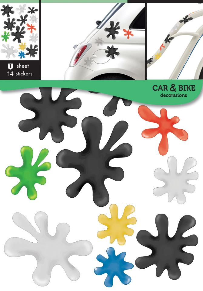 Self-adhesive stickers for a bike or a car - Spots