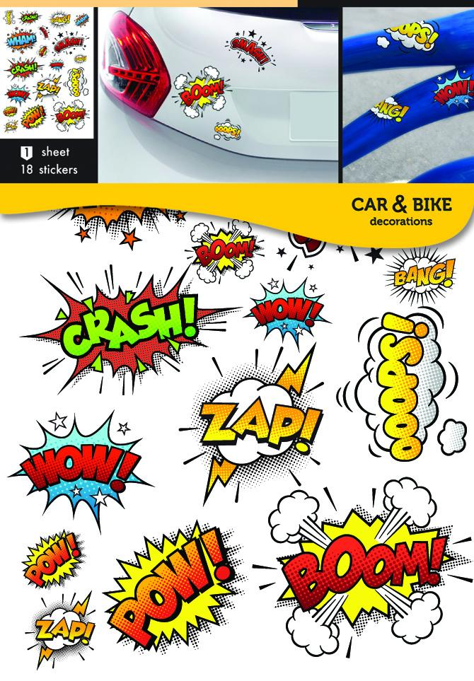 Self-adhesive stickers for a bike or a car - Comic Sound