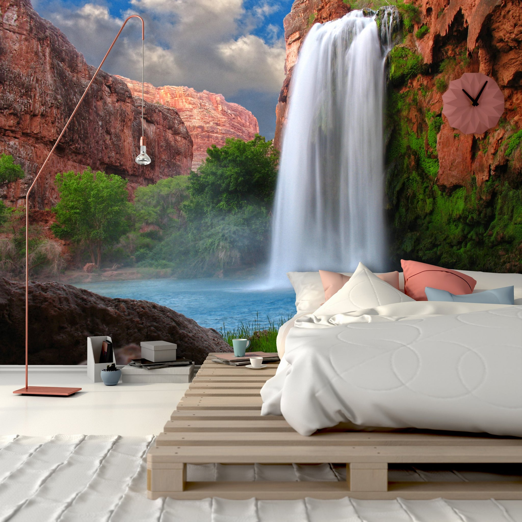 Wallpaper Stunning Waterfall SW088