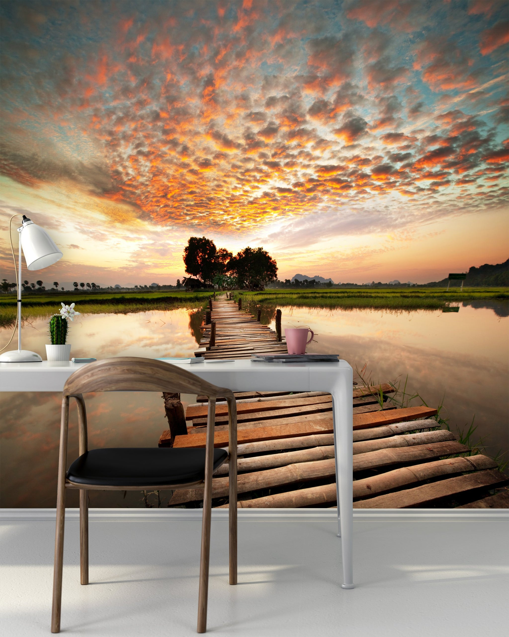 Wallpaper River on sunset SW247