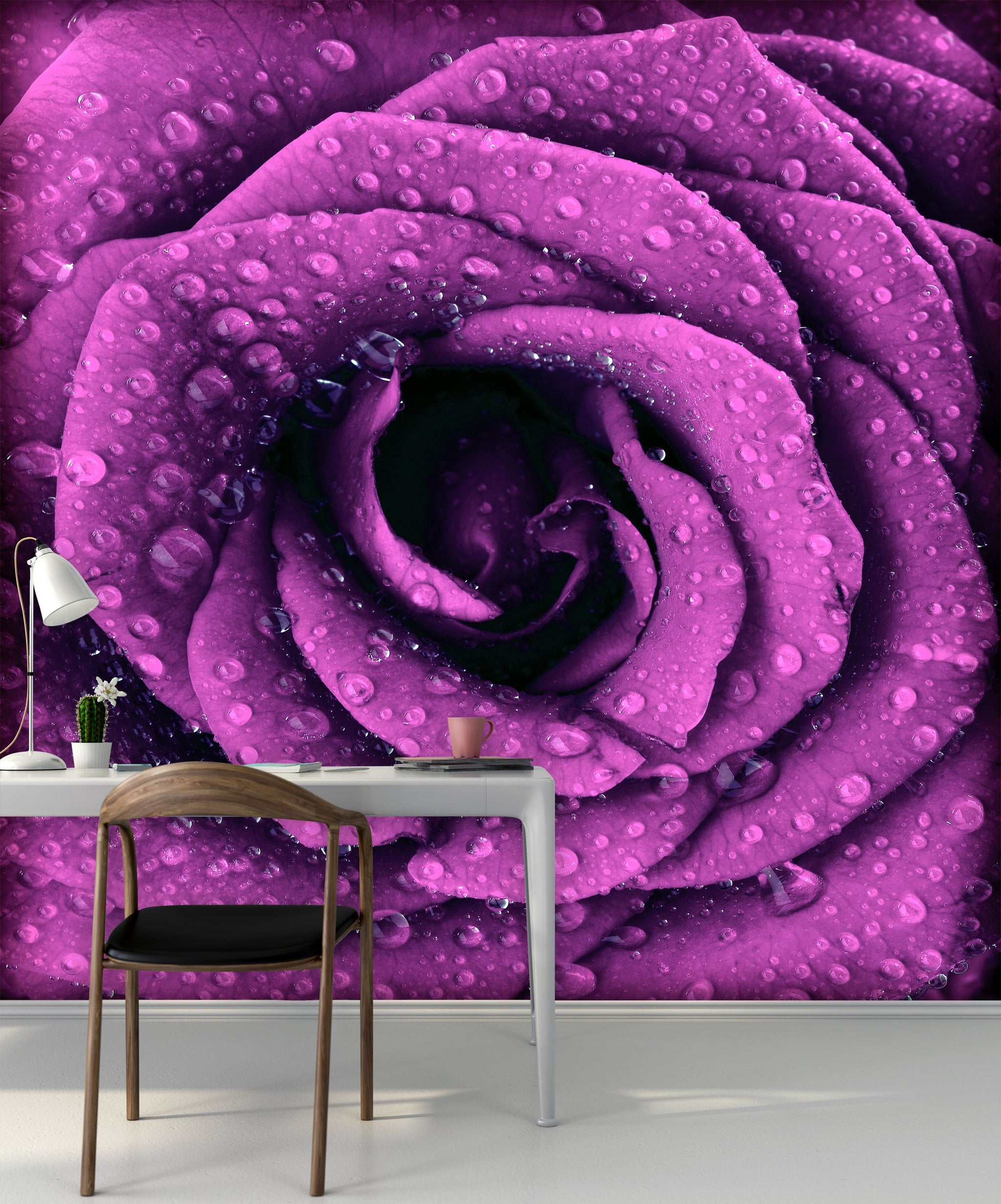 Wallpaper Purple dark rose SW249