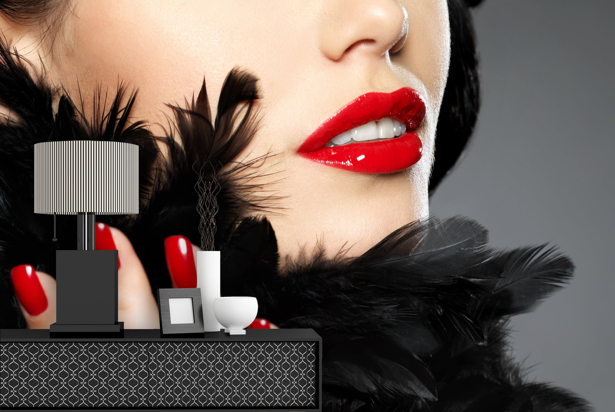 Wallpaper Fashion red nails SW141