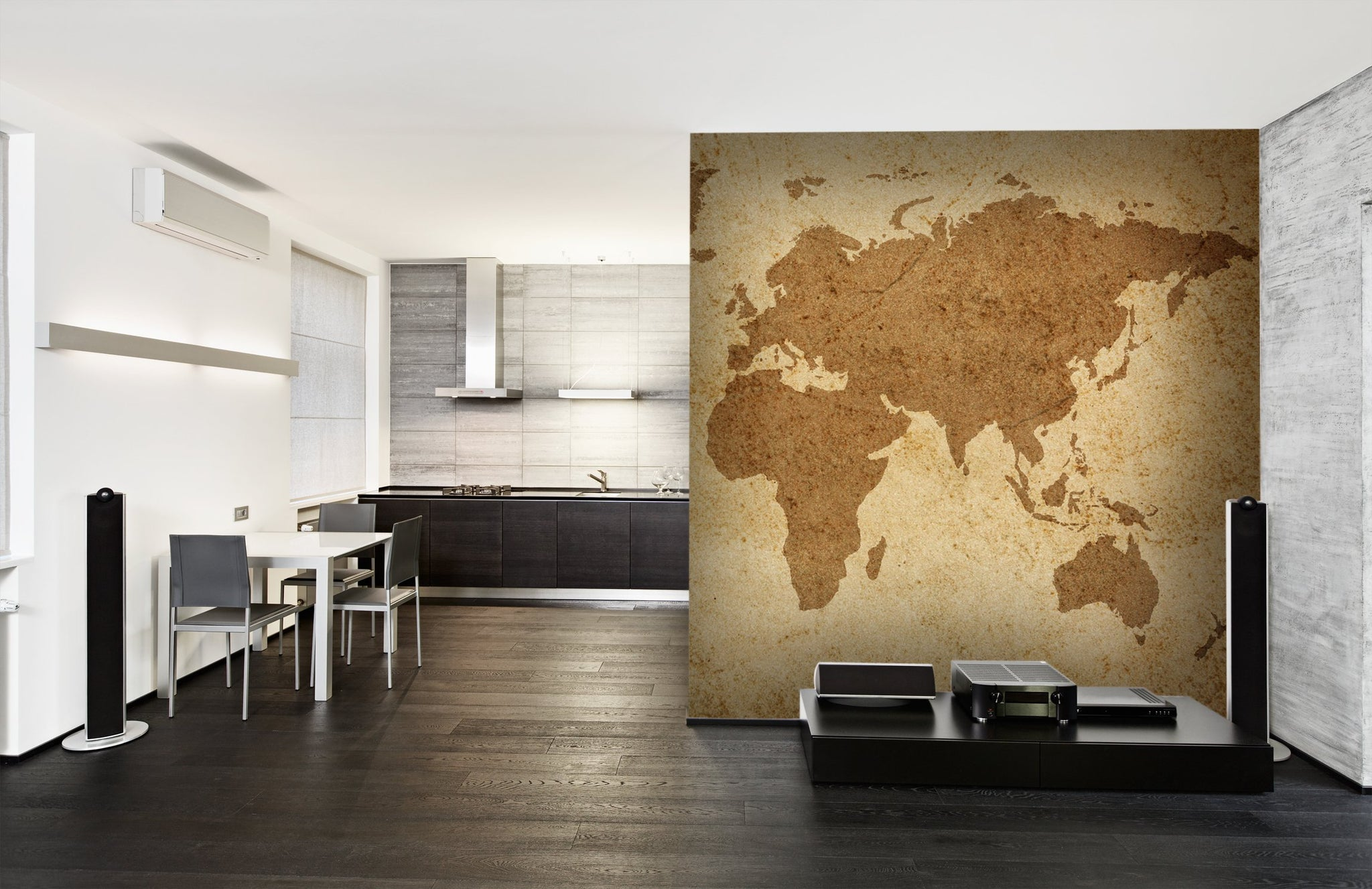 Wallpaper World map texture SW149