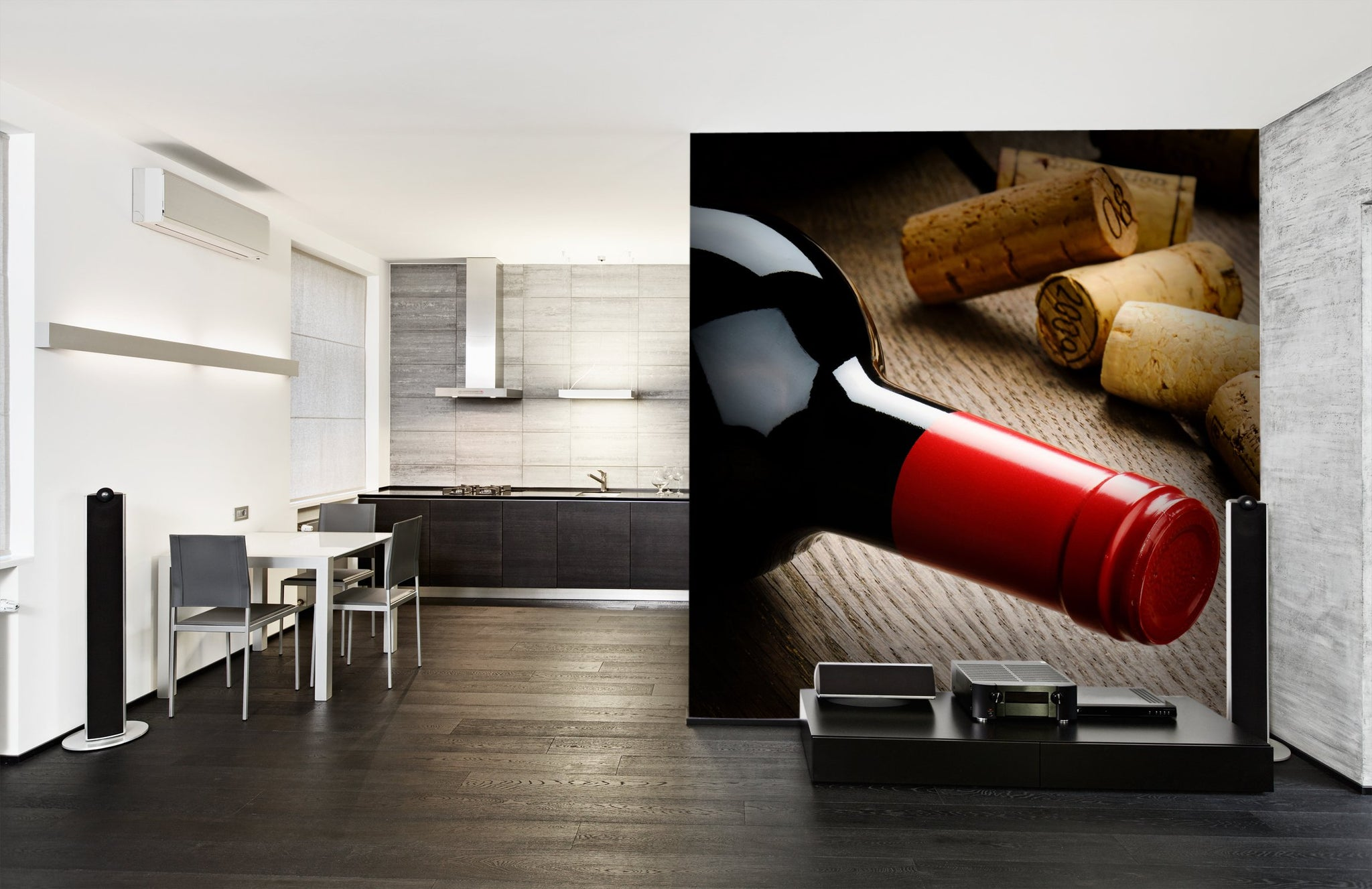 Wallpaper Bottle of red wine SW177