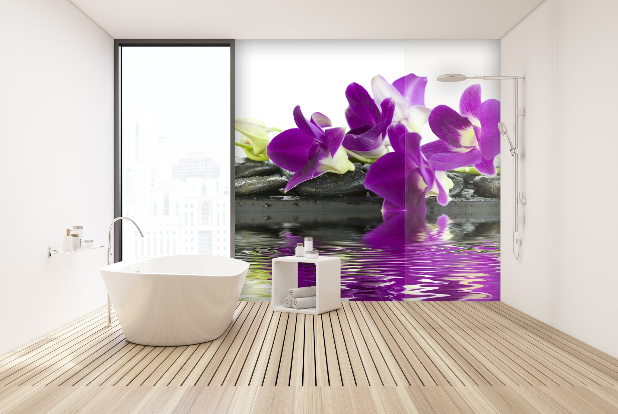 Wallpaper Beautiful purple orchid SW059