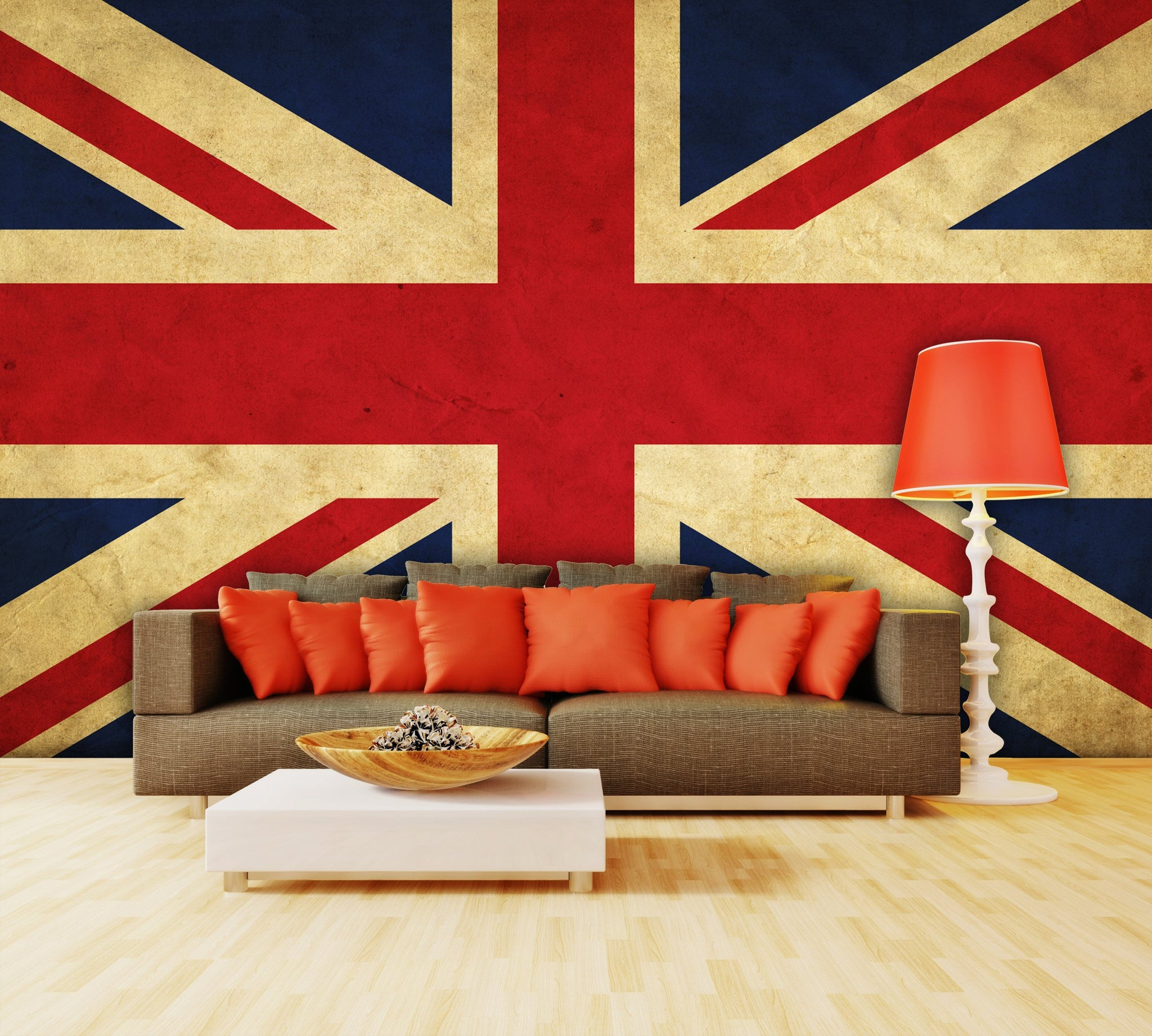 Wallpaper UK grunge flag SW136