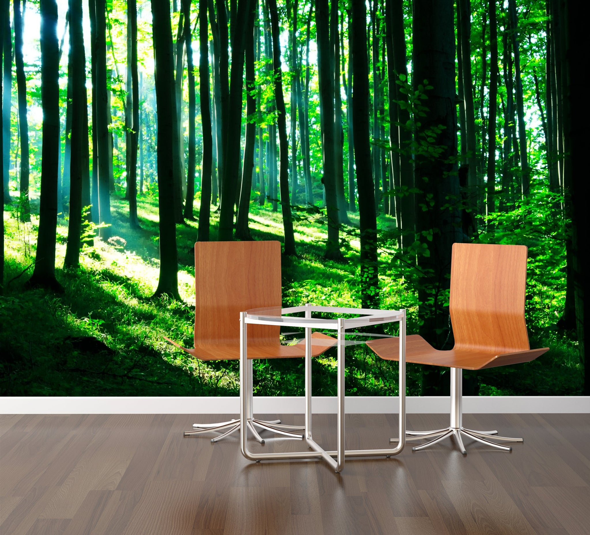 Wallpaper Sunshine in the green forest SW127