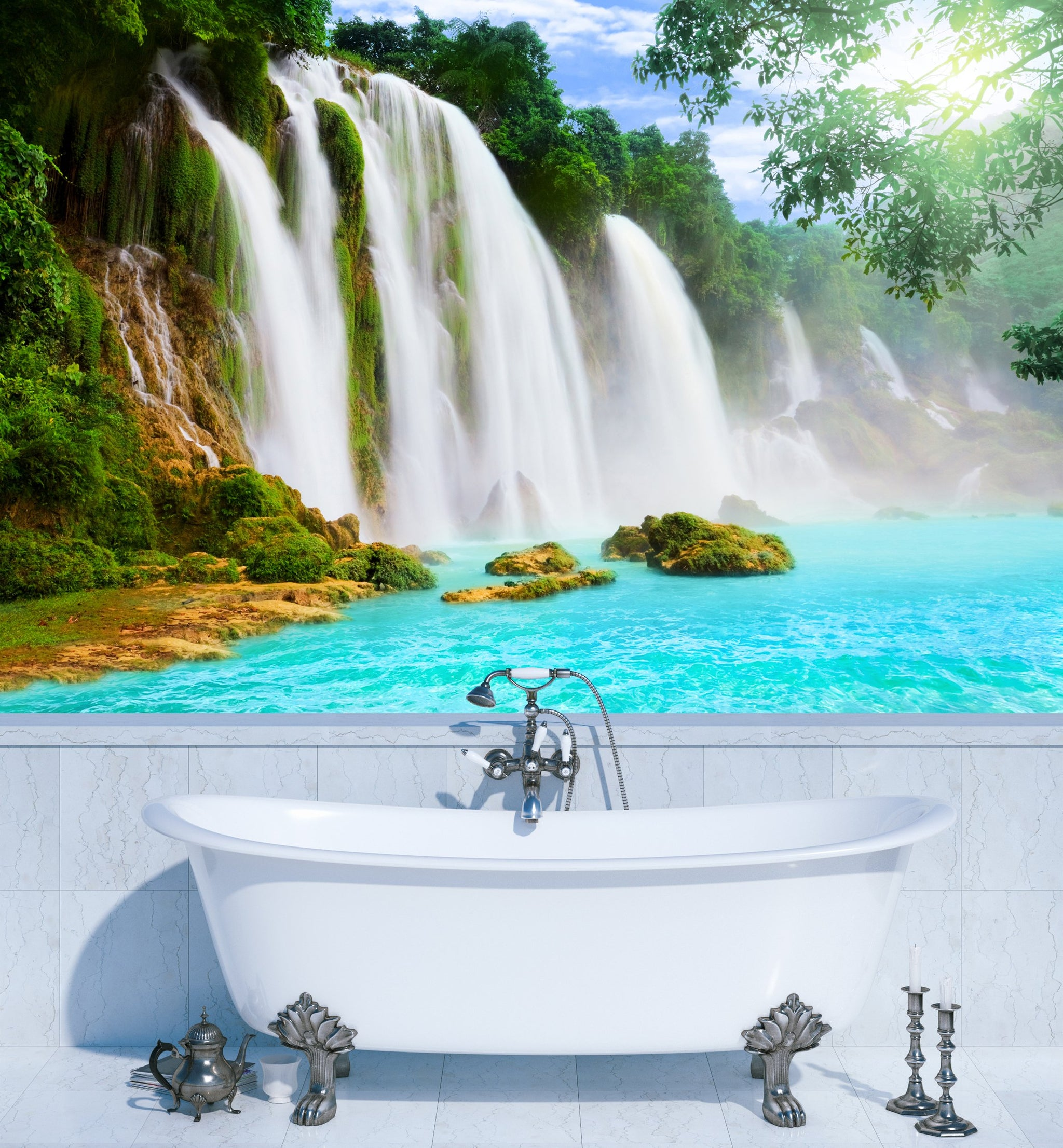 Wallpaper Detian waterfall SW128