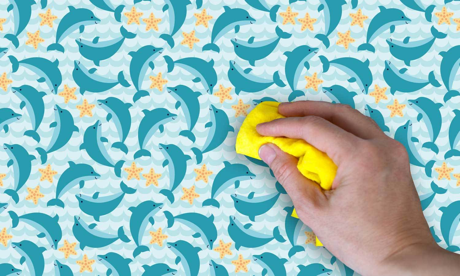 self-adhesive film for furniture -dolphin PAT037