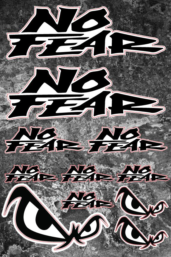 No Fear  sticker for motorcycle