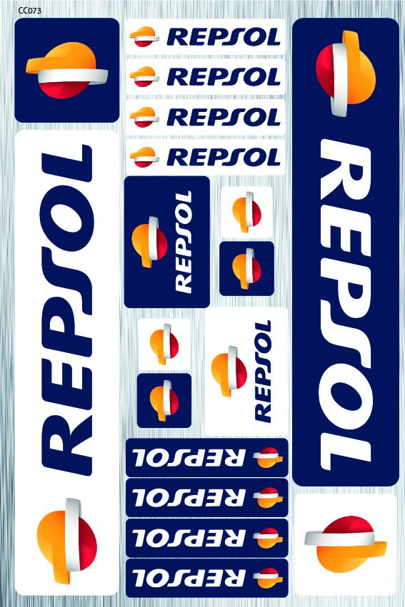 Repsol sticker for motorcycle