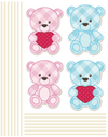 Tedy bears - Windows decoration WL035