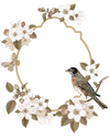 Bird on a branch - Windows decoration WL034 - Art Life Decor