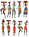 Afrikan mother - Windows decoration WL040 - Art Life Decor
