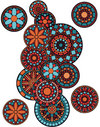 Mandalas - Windows decoration WL050