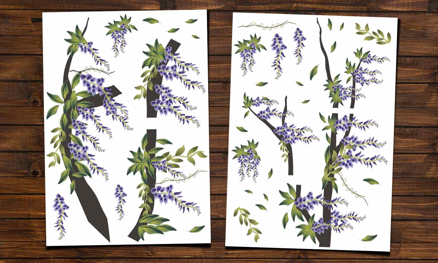 Wall stickers Wisteria - WS042