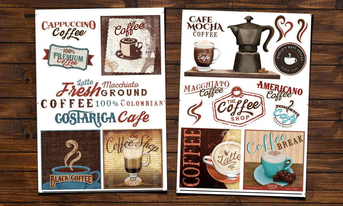 Wall stickers Vintage Coffee - WS096
